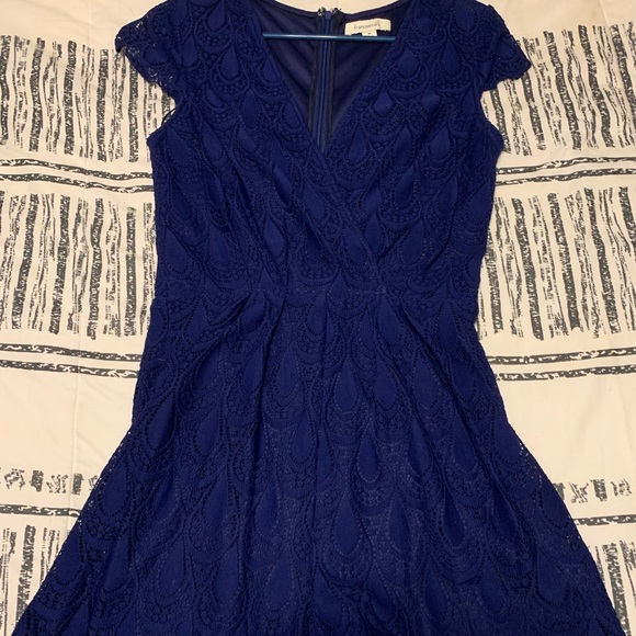 Francesca's Collections Dresses & Skirts - Navy lace romper, like new!!